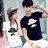 T恤 情侶裝 客製化 MIT台灣製純棉短T 班服◆快速出貨◆獨家配對情侶裝.禮帽鬍子【Y0084】可單買.艾咪E舖 1