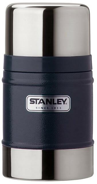 【【蘋果戶外】】Stanley 1000131 美國 百年歷史 真空保溫食物罐 18-8不鏽鋼304保溫罐 悶燒罐 0.5L 保溫食物杯 保溫食物罐 錘紋藍
