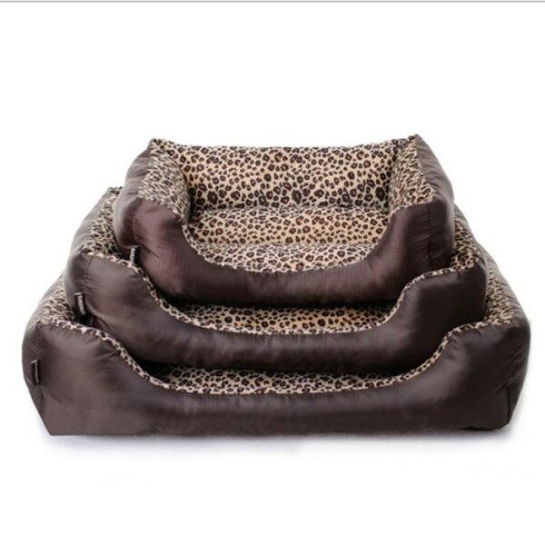 糖衣子輕鬆購【DZ0396】小中大型寵物窩狗窩貓窩床墊狗屋寵物墊耐髒豹紋寵物窩沙發墊