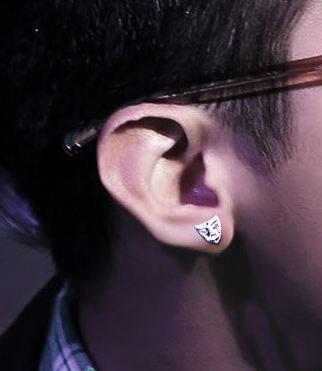 Tokyo Alice 925 純銀面具耳環,男性飾品首飾耳飾貼耳針飾品(se0000072)