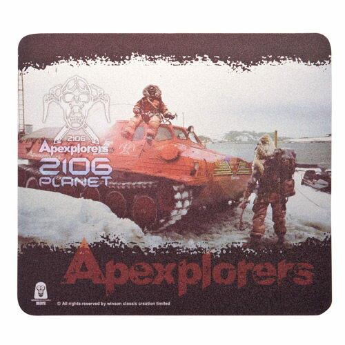 i2 極地猿人超薄滑鼠墊-02 (附贈收藏公仔)