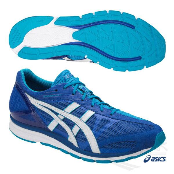ASICS亞瑟士男慢跑鞋17AW(藍)SKYSENSORGLIDE4輕量.優異反彈.安定性TJR335-4501【胖媛的店】