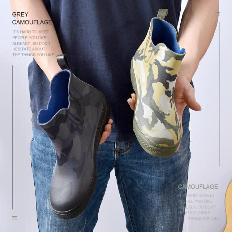 雨鞋 廠家直銷防滑耐磨低筒男士雨鞋保暖透氣勞保鞋時尚休閒防水雨靴
