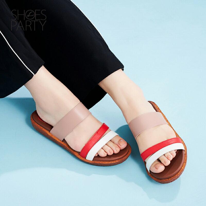【S2-17621L】Simple+久走不累撞色涼拖鞋_Shoes Party 2
