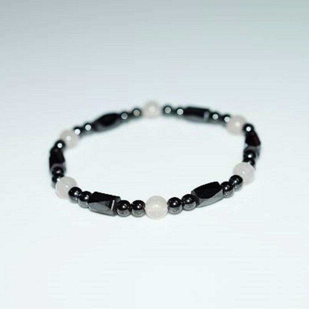【喨喨飾品】磁性石 / 粉水晶手鍊 健康開運飾品 A645