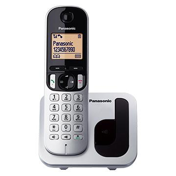 Panasonic KX-TGC精緻輕巧系列 單子機無線電話 ( KX-TGC210TWS銀 ) ★★★全新原廠公司貨含稅附發票★★★By Order 3 天