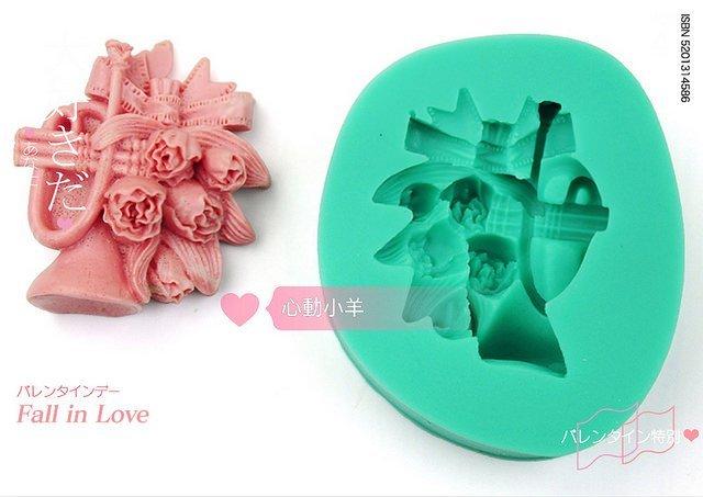 心動小羊^^DIY手工皂工具矽膠模具肥皂香皂模型矽膠皂模巧克力模喇叭鬱金香糖模