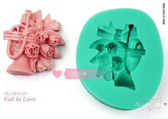 心動小羊^^DIY手工皂工具矽膠模具肥皂香皂模型矽膠皂模巧克力摸喇叭鬱金香糖模翻糖、香磚、迷你皂模