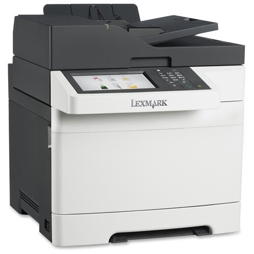 "Lexmark CX510DE Laser Multifunction Printer - Color - Plain Paper Print - Desktop - Copier/Fax/Printer/Scanner - 32 ppm Mono/32 ppm Color Print - 2400 x 600 dpi Print - 32 cpm Mono/32 cpm Color Copy - 7"" Touchscreen - 1200 dpi Optical Scan - Automatic Dup 0"