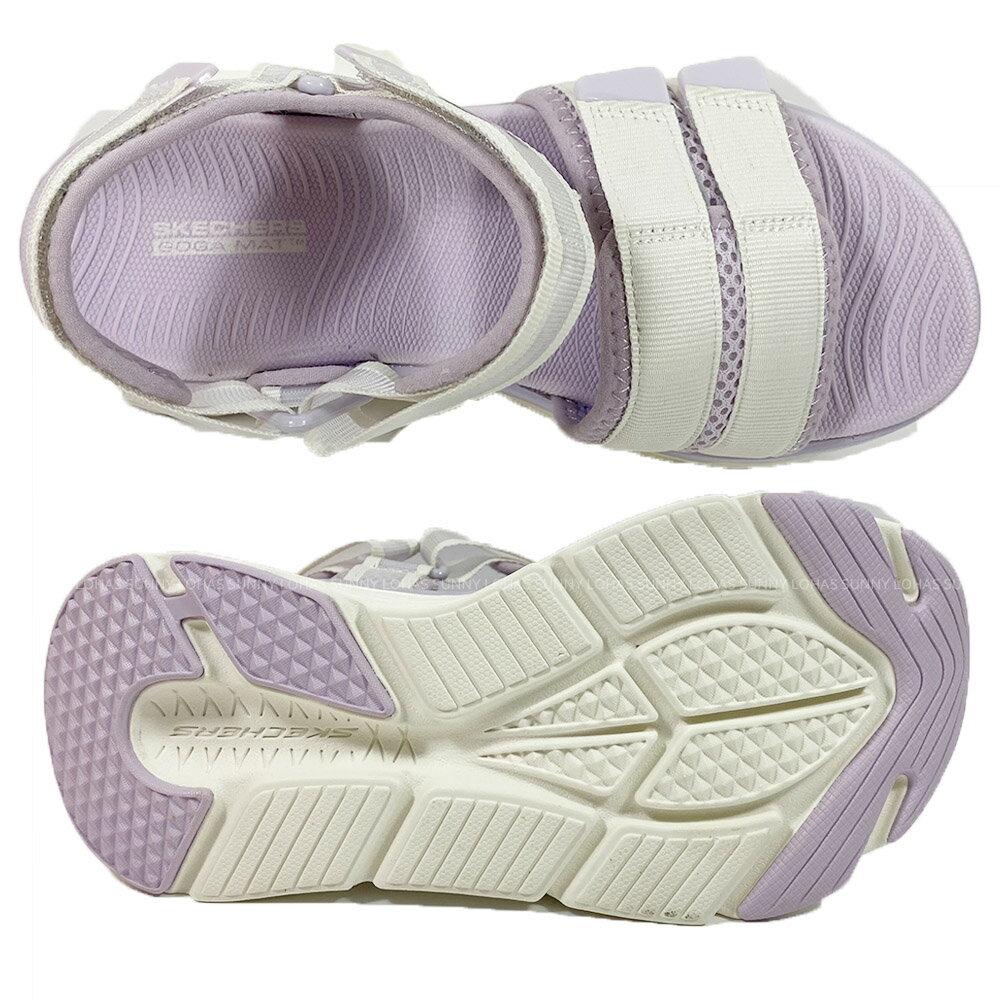 SKECHERS 女鞋 MAX CUSHIONING 涼拖鞋 厚底涼鞋 輕量Q彈140424WLV粉芋紫 [陽光樂活](C5)