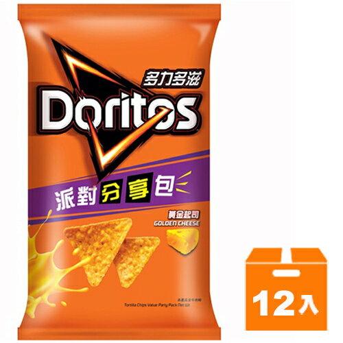 多力多滋 黃金起司口味玉米片 派對分享包 188g (12入)/箱