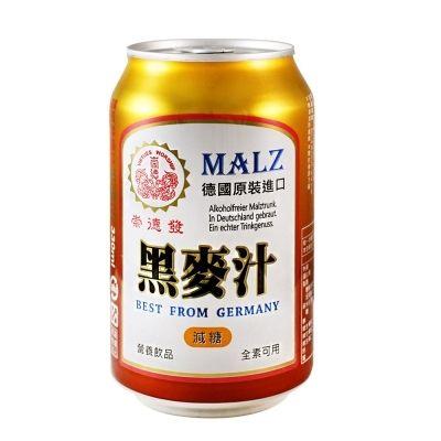 崇德發 天然黑麥汁易開罐(減糖) 330mlx24瓶/箱