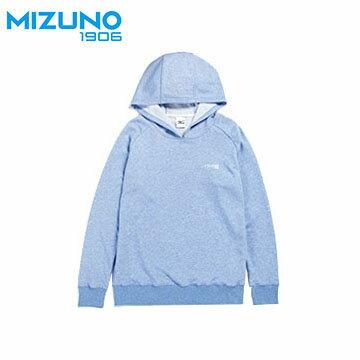 D2TA703121(藍) Slim Fit 合身版男針織休閒大學帽T【美津濃MIZUNO】