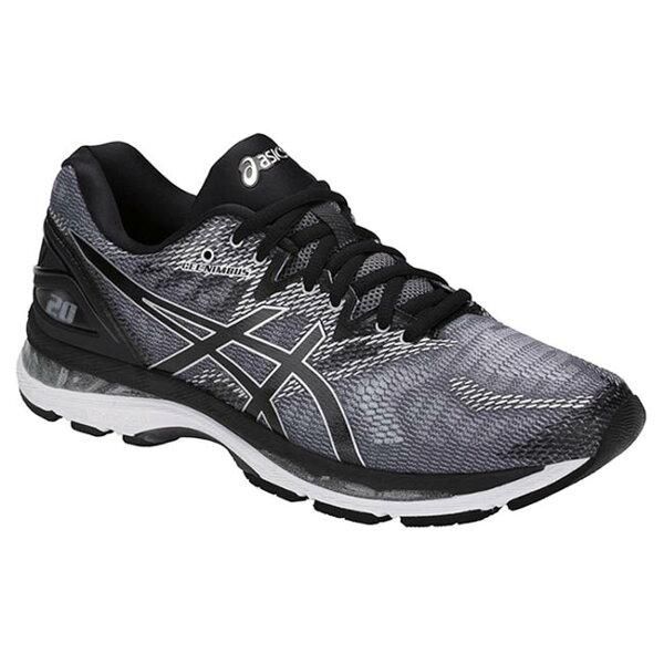 ASICSGEL-Nimbus20男鞋慢跑彈性中底緩衝耐磨舒適透氣灰黑【運動世界】T800N-9790