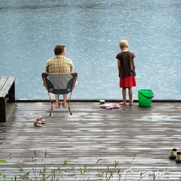 折疊椅戶外折疊椅月亮椅便攜釣魚椅野營7075鋁合金椅子沙灘靠背椅寫生椅  新年鉅惠 台灣現貨YXS