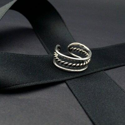 925純銀戒指銀飾~高雅大方三層 生日情人節 女飾品73ic13~ ~~米蘭 ~