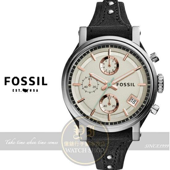 FOSSIL美國品牌Original Boyfriend個性女孩計時腕錶ES3946公司貨/情人節/禮物