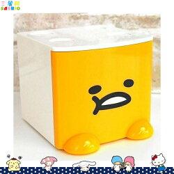 蛋黃哥 Gudetama 積木式迷你收納盒 積木盒 收納箱 置物盒  飾品盒 白 日本進口正版 424374
