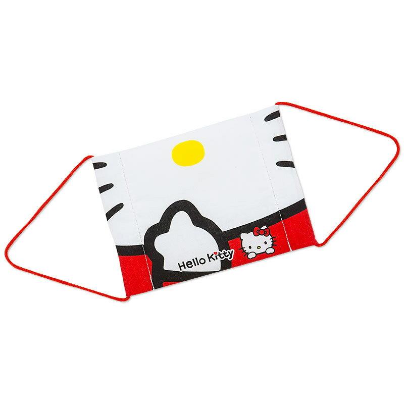【真愛日本】15091600019四方口罩-大臉吮指  三麗鷗 Hello Kitty 凱蒂貓   兒童口罩  防塵罩  外出用品