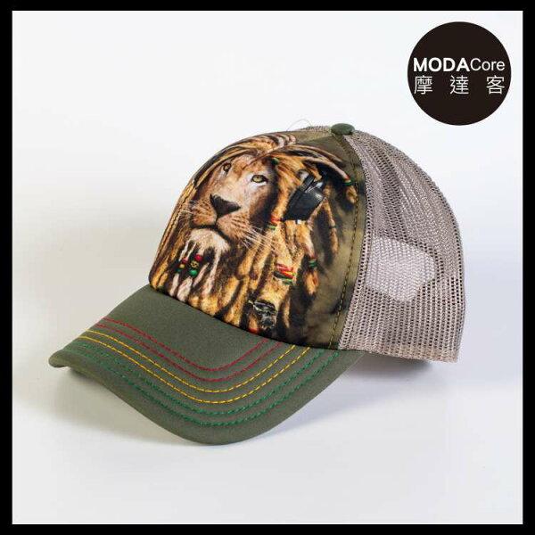 【摩達客】(預購)美國進口TheMountainDJ加滿獅藝術棒球帽網帽5-Panel新五分割帽