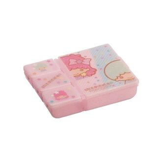 【真愛日本】16022400005分隔收納盒-TS星星粉 三麗鷗家族Kikilala雙子星 收納盒 耳環項鍊 飾品盒