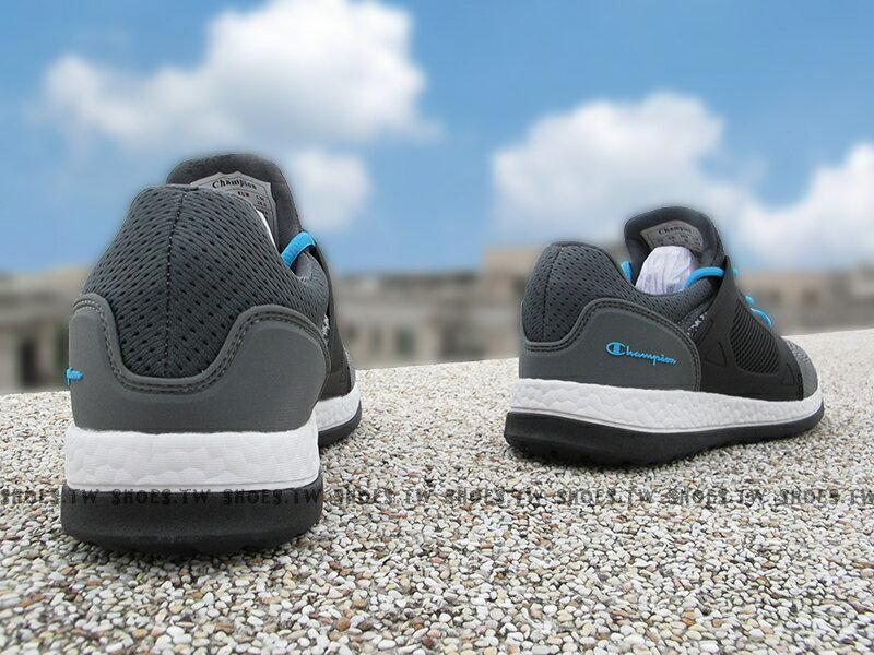 《限時特價799元》Shoestw【732220122】Champion 休閒鞋 ATHLETIC 灰黑水藍 襪套 網布 女生 2