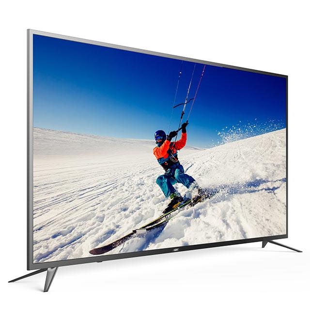 ★送安裝+象印熱水瓶★美國AOC 55吋4K HDR液晶顯示器+視訊盒55U6090 1