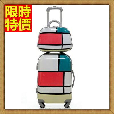 行李箱 拉桿箱 旅行子母箱-20吋幾何圖形街頭塗鴉男女登機箱2色69p59【獨家進口】【米蘭精品】