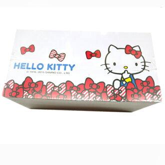 【真愛日本】15092200001KT面紙桌上收納盒 三麗鷗 Hello Kitty 凱蒂貓 面紙盒 收納盒 正品