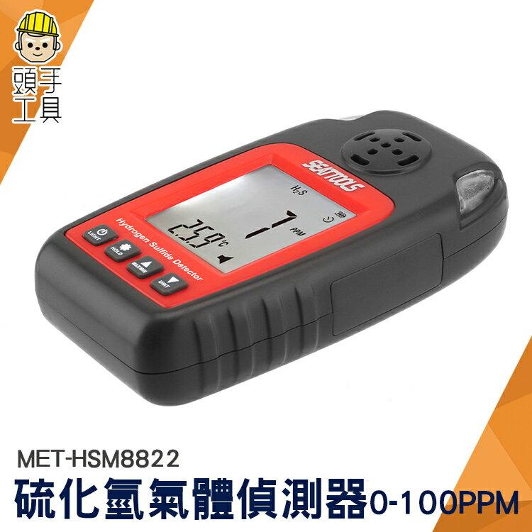 頭手工具 氣體泄漏檢測儀 空氣檢測 氣體警報器 0~100ppm 硫化氫氣體偵測器 超標報警器