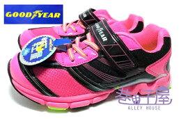 GOODYEAR固特異 女童超輕量推進力機能大底多功能運動跑鞋  黑粉