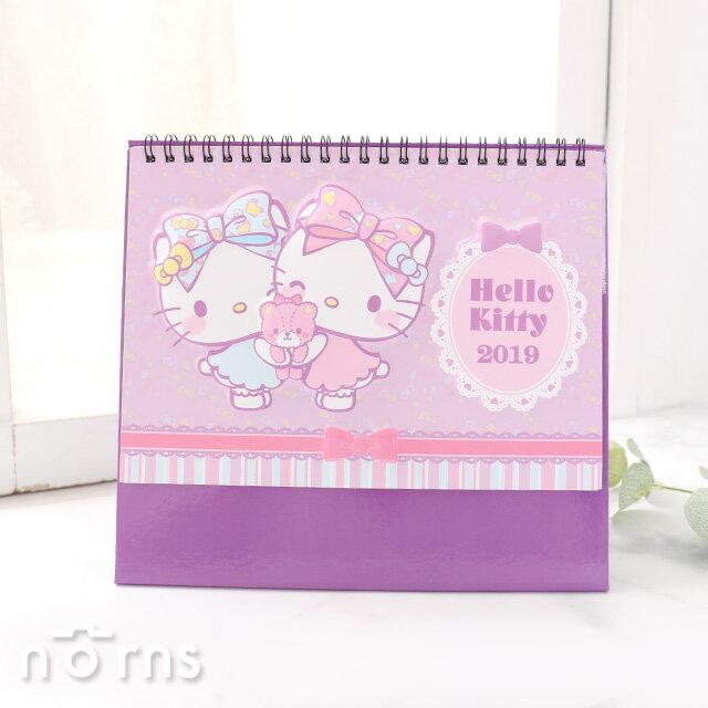 ~2019年線圈紙桌曆 立體Hello KITTY~Norns Sanrio 行事曆 月曆