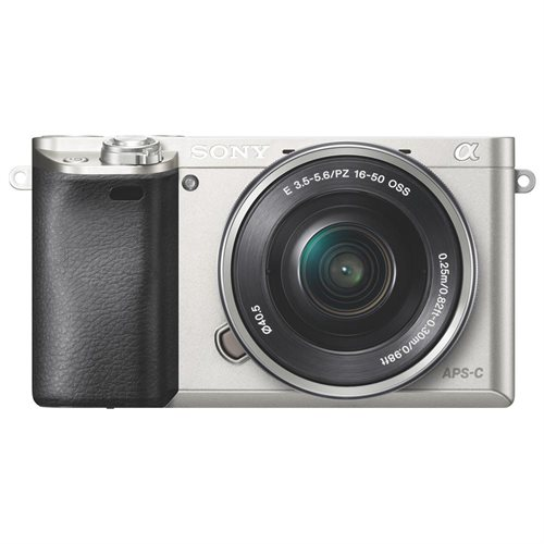 """Sony alpha a6000 24.3 Megapixel Mirrorless Camera with Lens - 16 mm - 50 mm - Silver - 3"""" LCD - 16:9 - 3.1x Optical Zoom - 4x - Optical (IS) - 6000 x 4000 Image - 1920 x 1080 Video - HDMI - HD Movie Mode - Wireless LAN 0"""