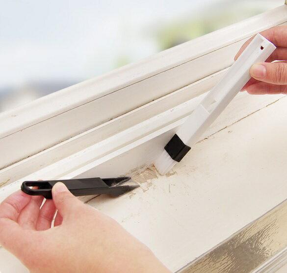 PS Mall 窗戶窗槽凹槽清潔刷 帶簸箕縫隙刷【J1519】 3