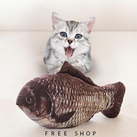 Free Shop 創意仿真鯽魚吳郭魚造型貓咪抱枕 尚方寶劍鹹魚抱枕鯉魚抱枕公仔玩偶娃娃【QBBCY6124】