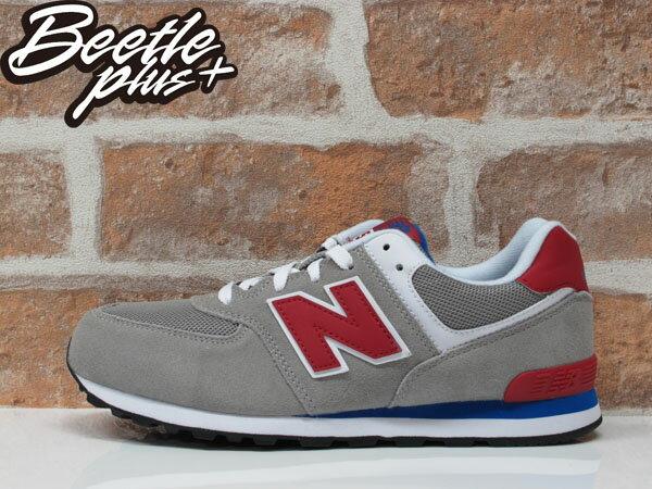 BEETLE NEW BALANCE 574 灰紅 灰藍 麂皮 網布 復刻 復古 休閒 慢跑鞋 運動鞋 KL574LTG 0
