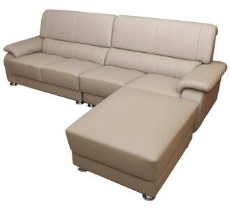 【尚品傢俱】K-769-05 瓦西 半牛皮L型沙發/獨立筒彈簧沙發/辦公室休憩沙發椅/L-shaped sofa