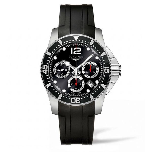 LONGINES 浪琴錶 L37444562深海征服者潛水計時機械腕錶/黑面黑圈41mm