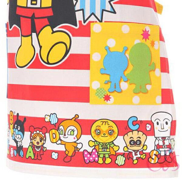 艾莉莎ELS:日本麵包超人兒童圍裙紅白條紋110cm☆艾莉莎ELS☆