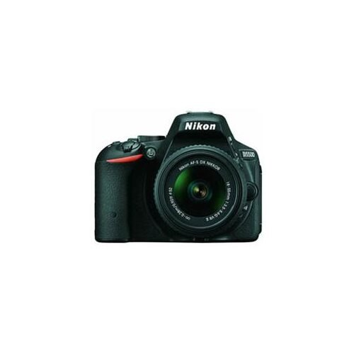 "Nikon D5500 24.2 Megapixel Digital SLR Camera with Lens - 18 mm - 55 mm - 3.2"" Touchscreen LCD - 16:9 - 3.1x Optical Zoom - i-TTL - 6000 x 4000 Image - 1920 x 1080 Video - HDMI - PictBridge - HD Movie Mode - Wireless LAN 1"