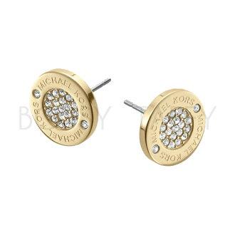 MICHAEL KORS 經典時尚金簡約鑲鑽耳環 MK Pavé Gold-Tone Stud Earrings