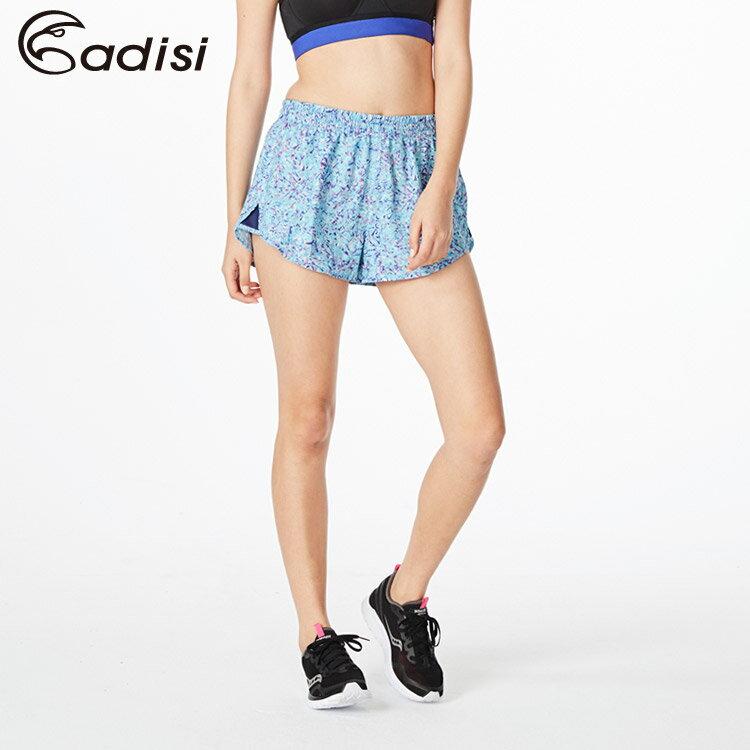 ADISI 女印花慢跑短褲AP1811006 (S~2XL) / 城市綠洲專賣(吸濕排汗、速乾、運動)