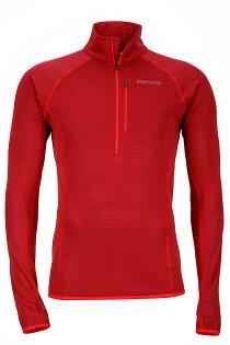 ├登山樂┤美國MarmotNeothermo12Zip男款彈性保暖透氣中層衣排汗衣紅#84610-0066