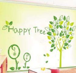 WallFree窩自在★DIY無痕創意牆貼/壁貼-AY9021 快樂樹 60X90