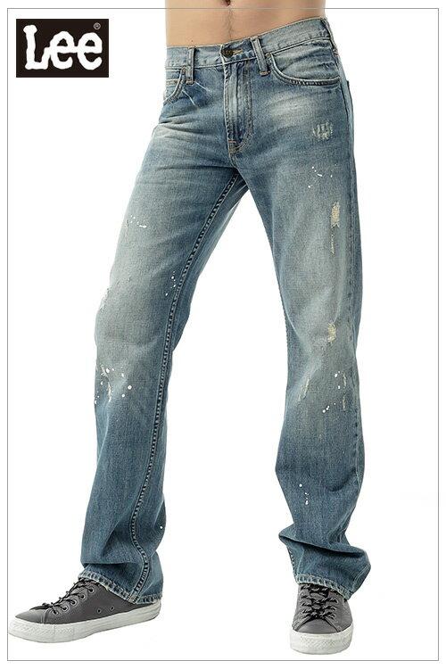【單一價↘899】Lee Joe 727 中腰標準直筒牛仔褲-男款(中古藍)