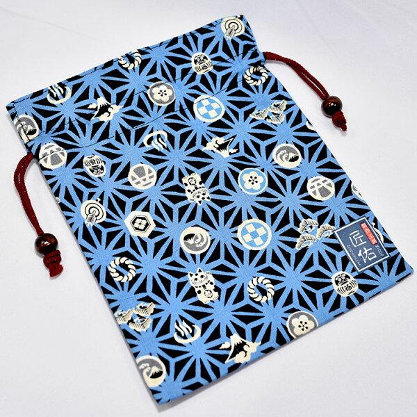 麻之葉日本印象綿質束口袋匠佑日本製