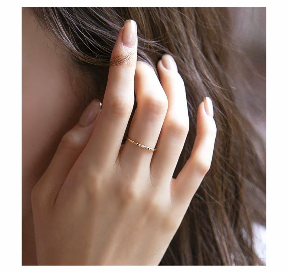 日本CREAM DOT  /  リング 指輪 11号 ビジュー レディース ビジュー カラーストーン 重ね付け シルバー ゴールド エレガント シンプル プレゼント 女性 結婚式 デイリー 細め 華やか ブランド アクセサリー  /  qc0456  /  日本必買 日本樂天直送(1098) 7