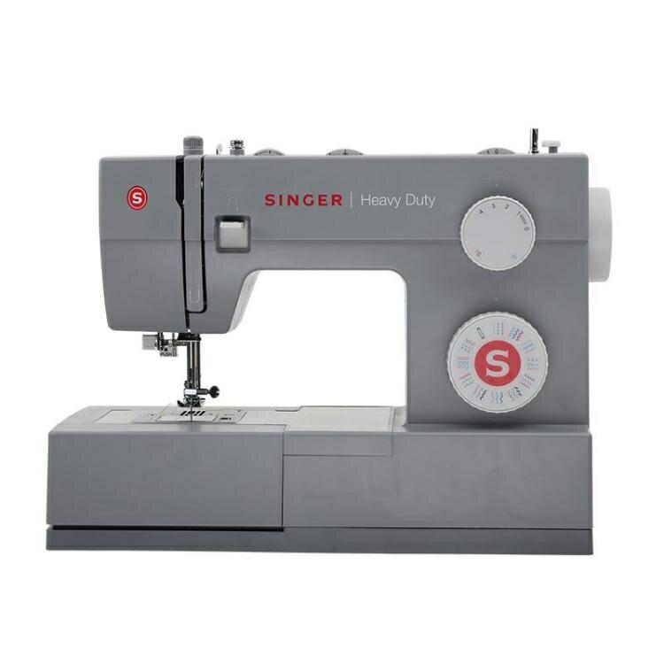 縫紉機4432家用電動吃厚臺式多功能鎖扣眼衣車SINGER220V