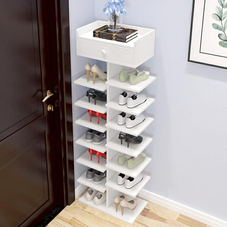 多層鞋架簡易家用經濟型省空間家里人仿實木鞋櫃宿舍門口小鞋架子