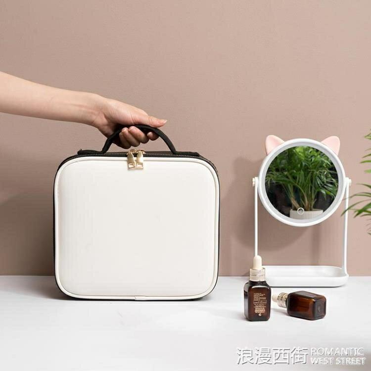 化妝箱手提家用便攜女化妝包多功能雙層跟妝護膚品包收納盒大容量